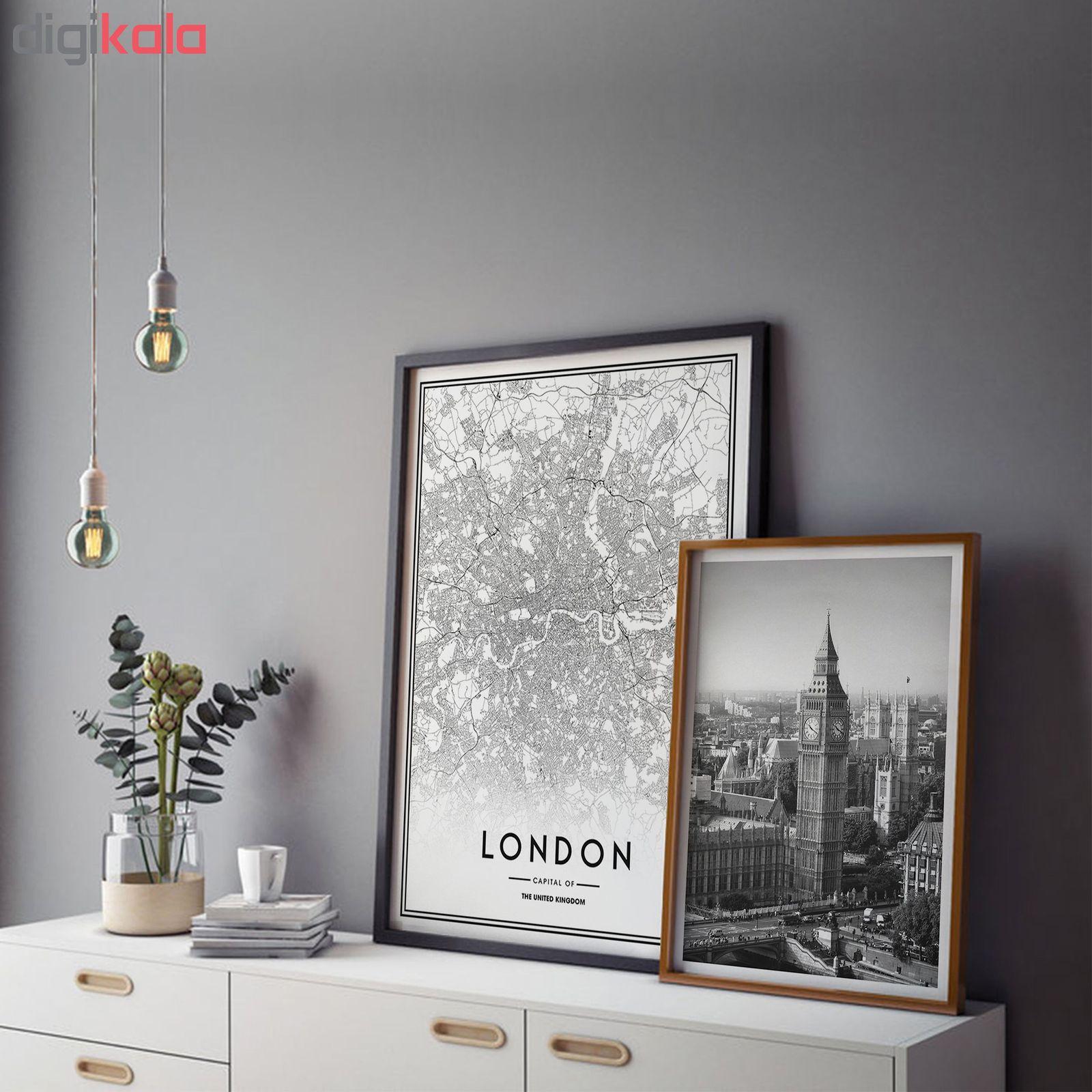 تابلو سالی وود طرح نقشه شهر لندن مدل T120104