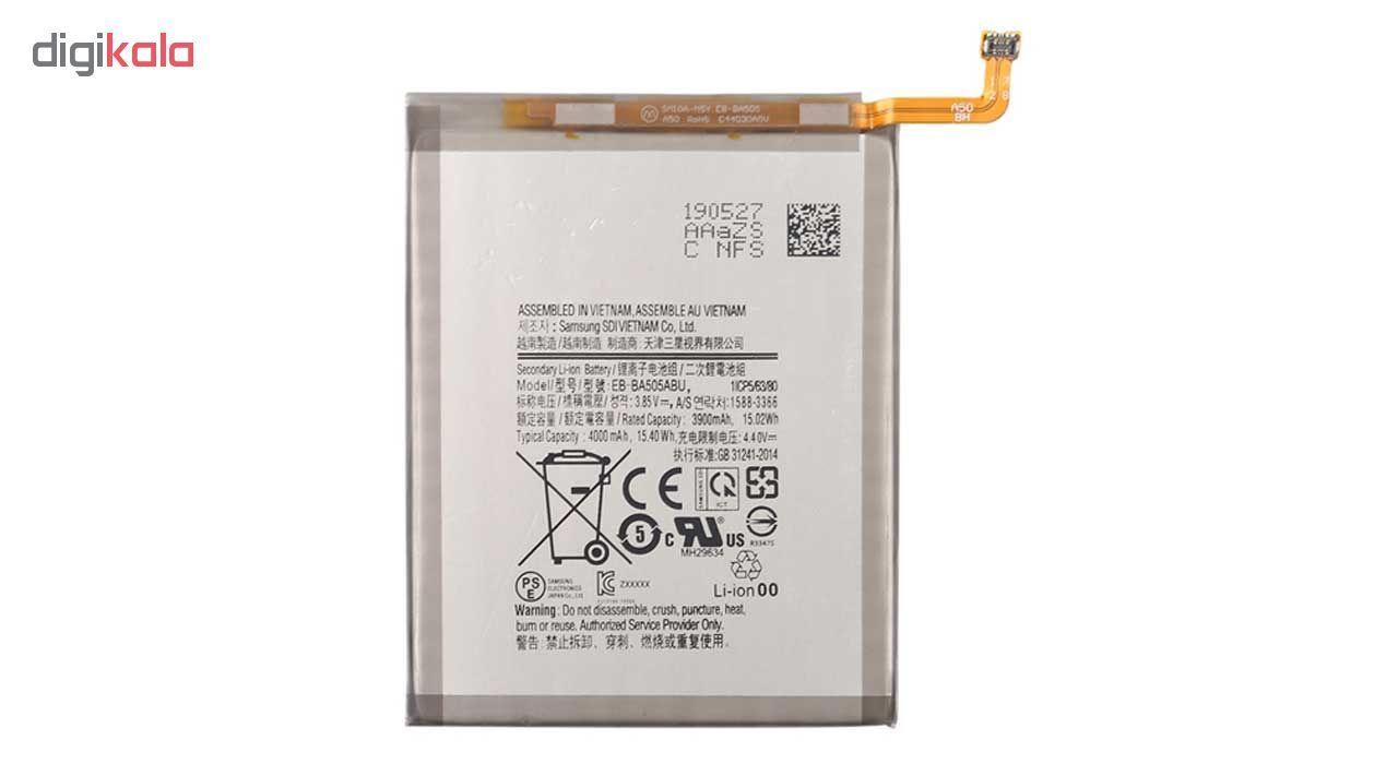 باتری موبایل مدل EB-BA505ABU ظرفیت 4000 میلی آمپر ساعت مناسب برای گوشی موبایل سامسونگ Galaxy A30  main 1 1