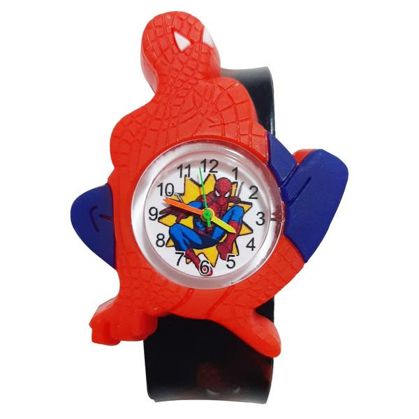 ساعت مچی عقربه ای پسرانه طرح اسپایدر من کد 0001