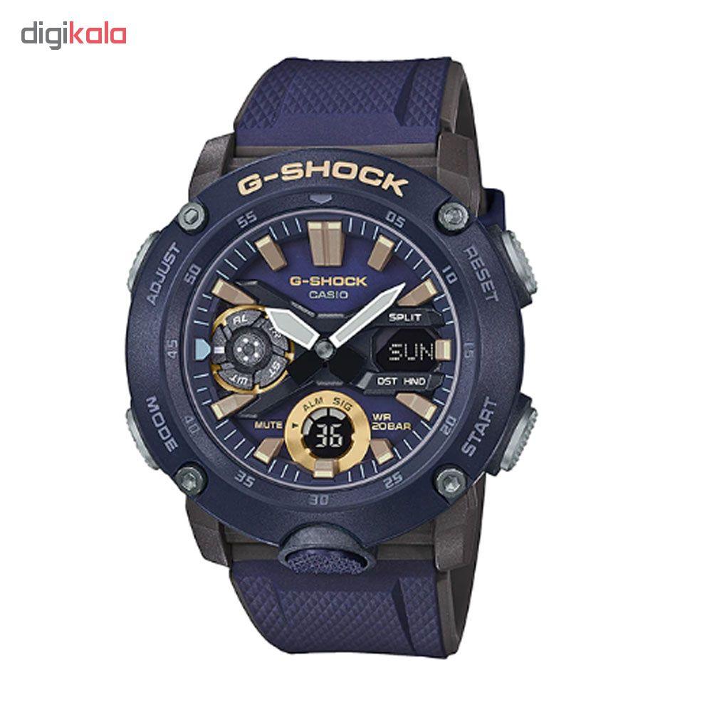 کد تخفیف                                      ساعت عقربه ای مردانه کاسیو مدل جی شاک کد ga-2000-2a