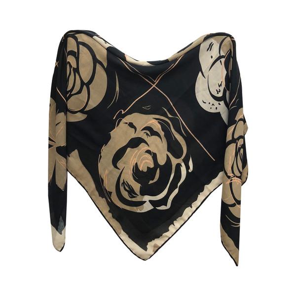 روسری زنانه طرح گل رز کد KES5656