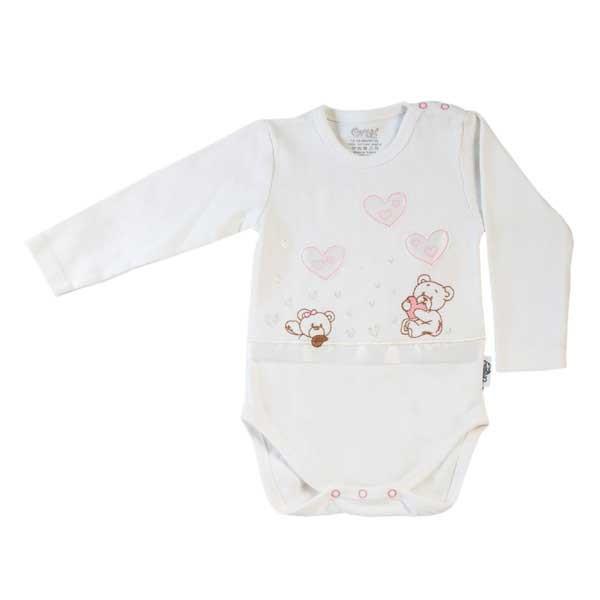 بادی نوزادی دخترانه اونیکس طرح قلب و خرس کد 03