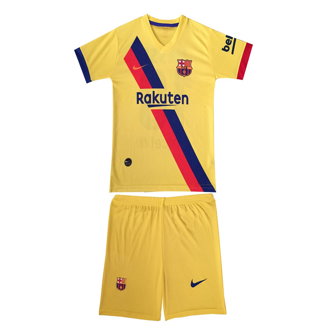 ست پیراهن و شورت ورزشی پسرانه طرح بارسلونا MEssi کد 9