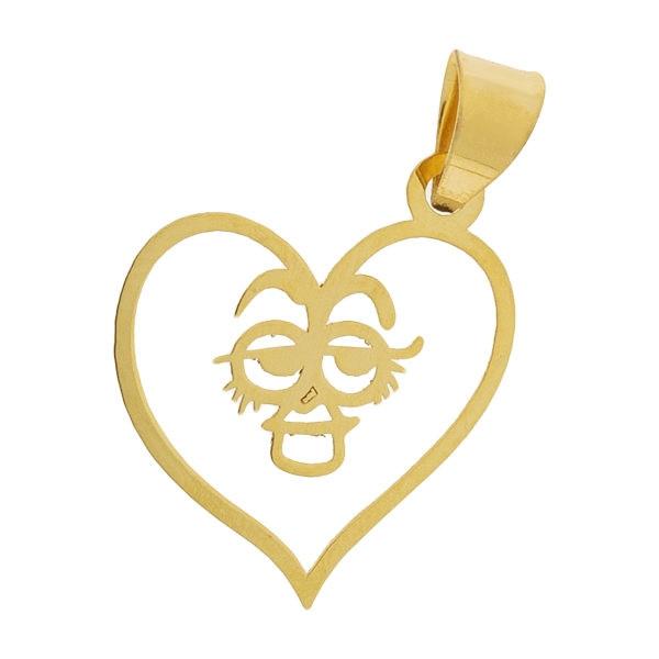 آویز گردنبند طلا 18 عیار زنانه طرح قلب کد UN087