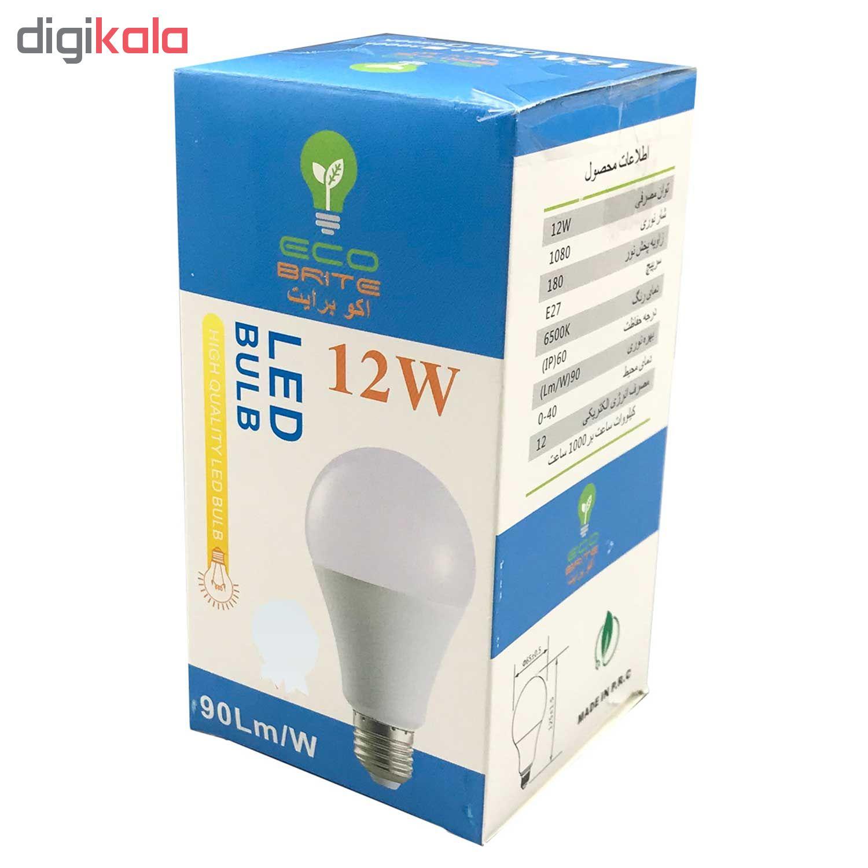لامپ ال ای دی 12 وات اکو برایت مدل 90LM پایه E27 thumb 2 4