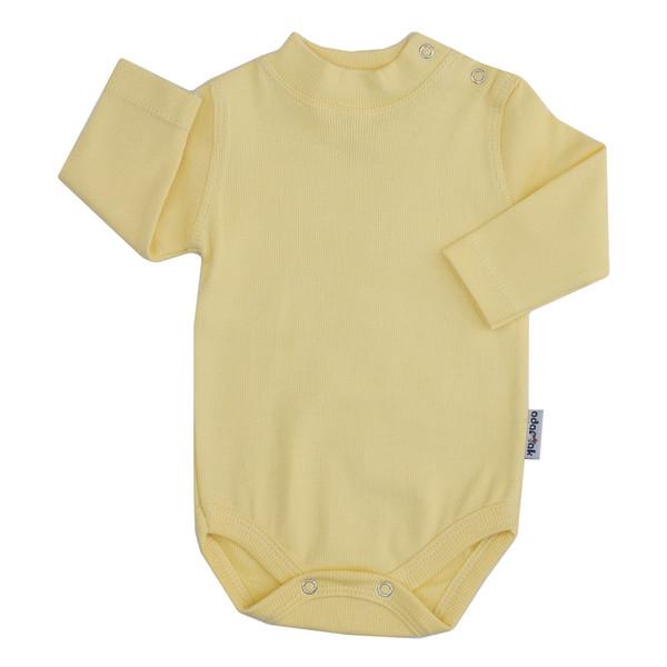 بادی آستین بلند نوزاد آدمک کد 176300 رنگ لیمویی