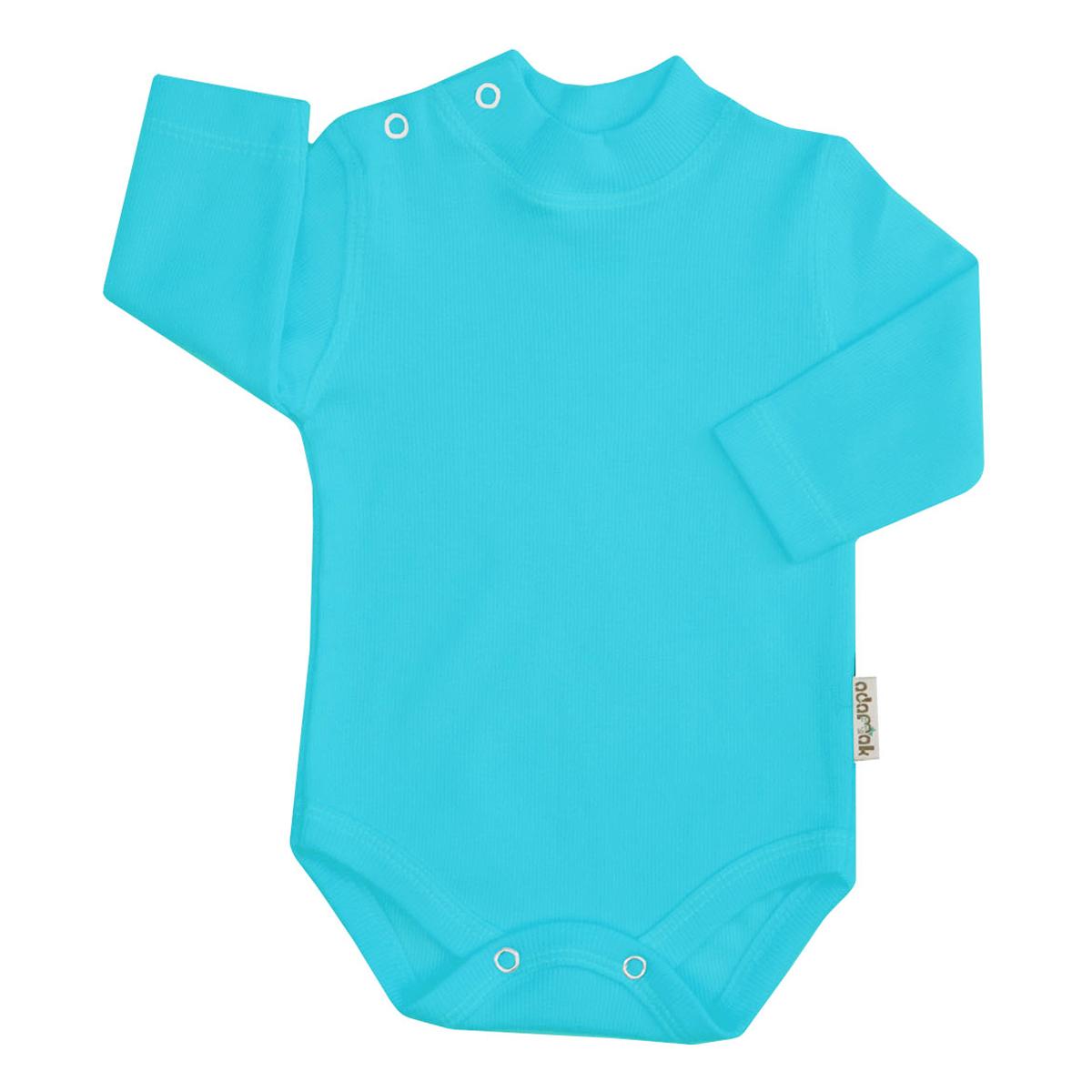 بادی آستین بلند نوزاد آدمک کد 176300 رنگ فیروزه ای