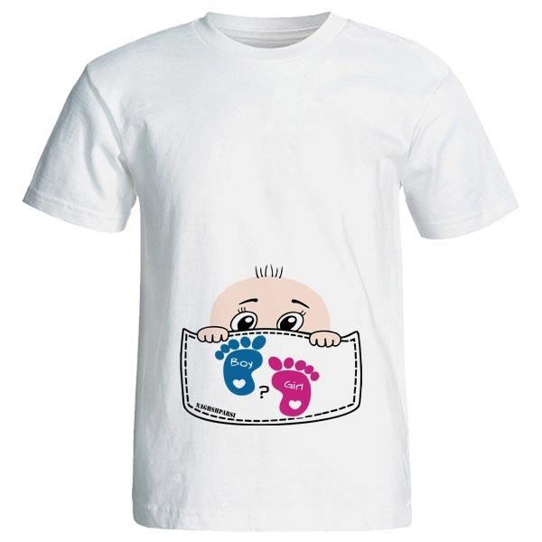 تی شرت بارداری طرح Boy Girl کد 3975