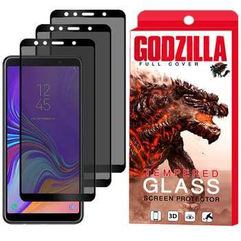 محافظ صفحه نمایش حریم شخصی گودزیلا مدل GGP مناسب برای گوشی موبایل سامسونگ Galaxy A7 2018 بسته 3 عددی