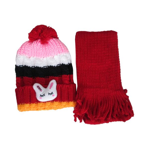 ست شال و کلاه دخترانه کد ARO-20529