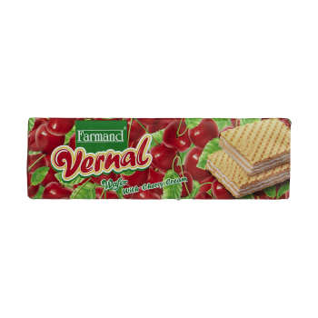 ویفر فرمند مدل Vernal با طعم گیلاس مقدار 80 گرم