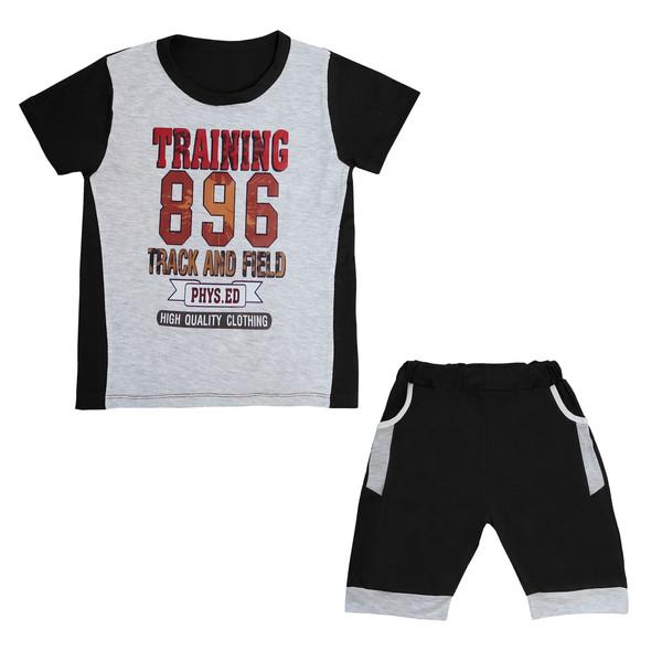 ست تی شرت و شلوارک پسرانه کد Tsh-BB45-a
