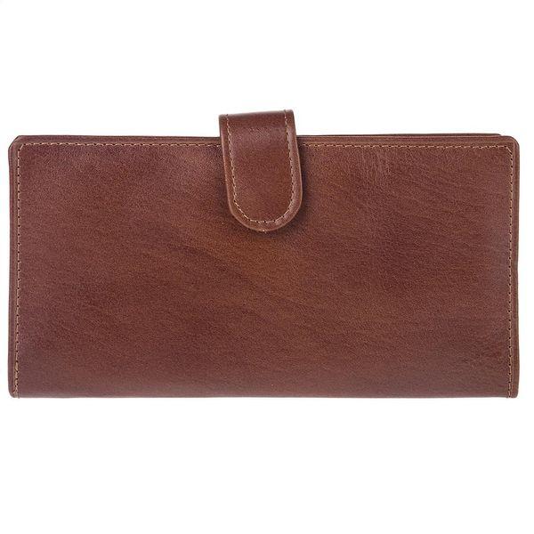 کیف پول چرم طبیعی گالری ماندگار مدل دکمه دار 136015