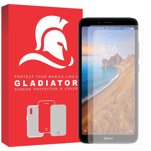 محافظ صفحه نمایش گلادیاتور مدل GLX2000 مناسب برای گوشی موبایل شیائومی Redmi 7a بسته دو عددی
