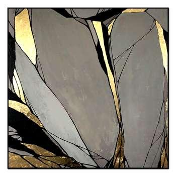 تابلو ورق طلا طرح پروانه کد 002