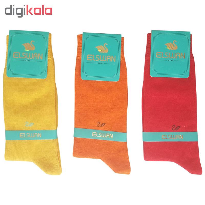 جوراب مردانه ال سون کد PH190 مجموعه 6 عددی