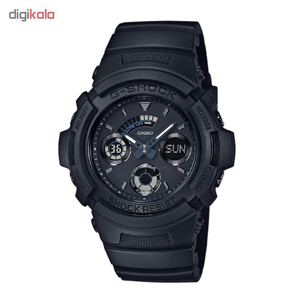 خرید ساعت مچی عقربه ای مردانه کاسیو مدل جی شاک کد AW-591BB-1A