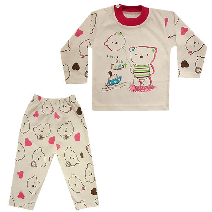 ست تی شرت و شلوار نوزاد کد N-075