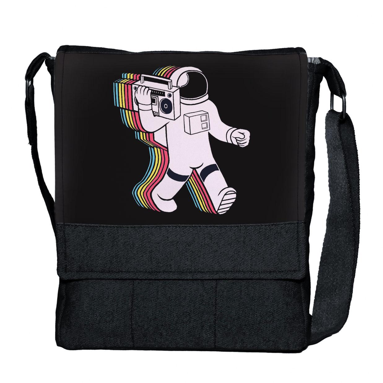 کیف دوشی گالری چی چاپ طرح فضا نورد کد 65843