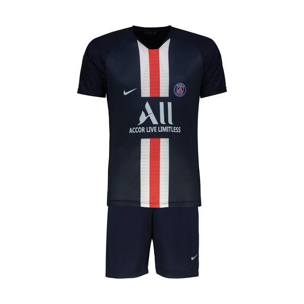 ست پیراهن و شورت ورزشی پسرانه پانیل طرح تیم پاریس طرح Mbappe