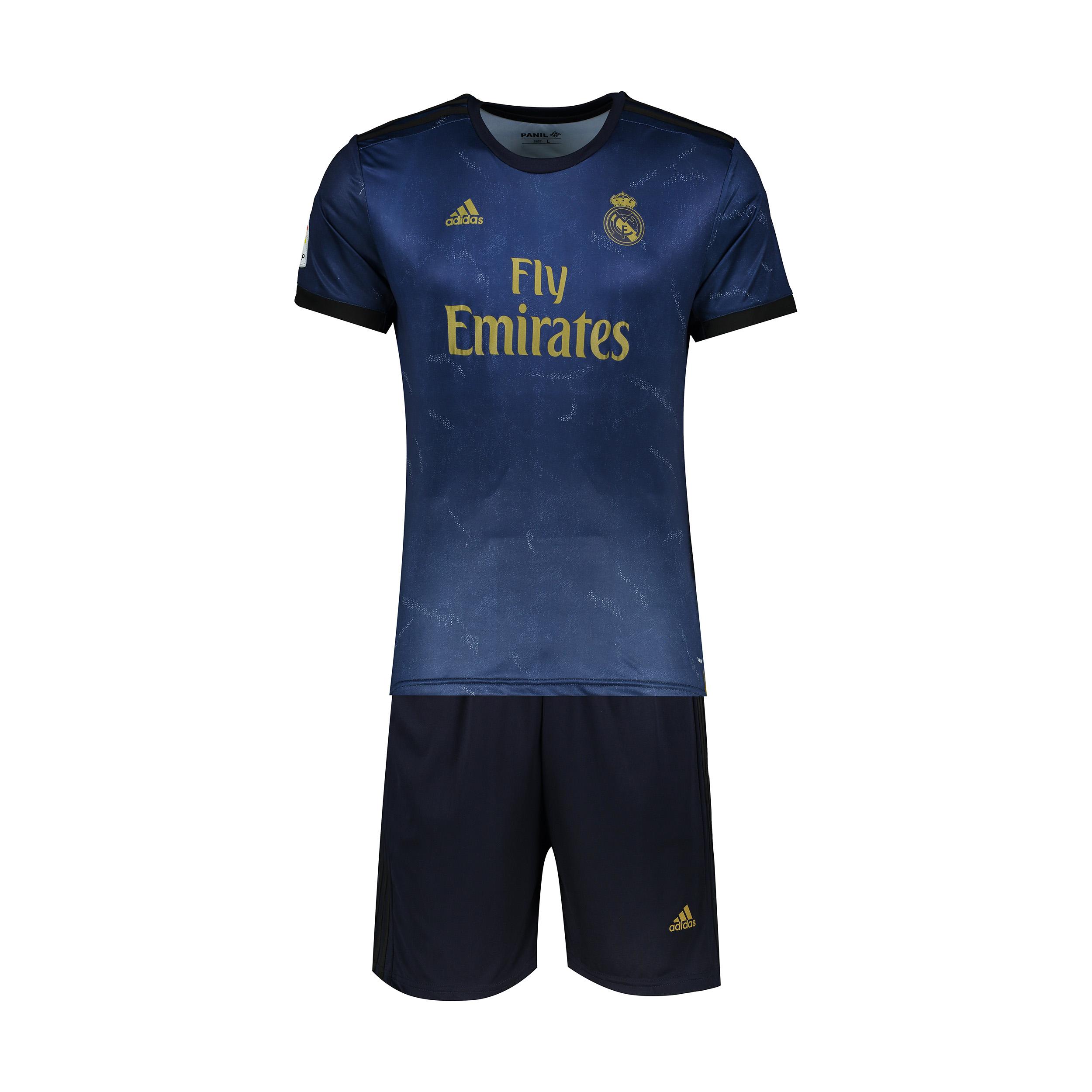 ست پیراهن و شورت ورزشی پسرانه پانیل طرح تیم رئال مادرید کد 23049