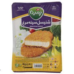 شنیسل سینه مرغ منجمد پمینا مقدار 540 گرم