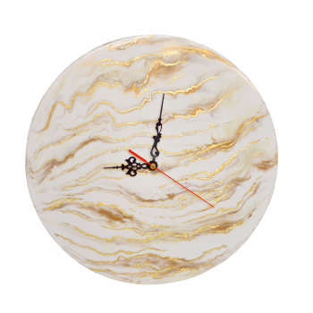 ساعت دیواری طرح سنگ مرمر کد 1