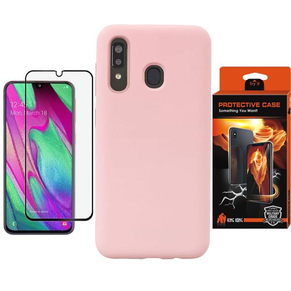 کاور کینگ کونگ مدل SLCN مناسب برای گوشی موبایل سامسونگ Galaxy A20 به همراه محافظ صفحه نمایش