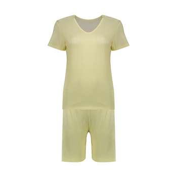 ست تی شرت و شلوارک راحتی زنانه کد 12 | Comfort T-Shirt And Pants Set For Women 12