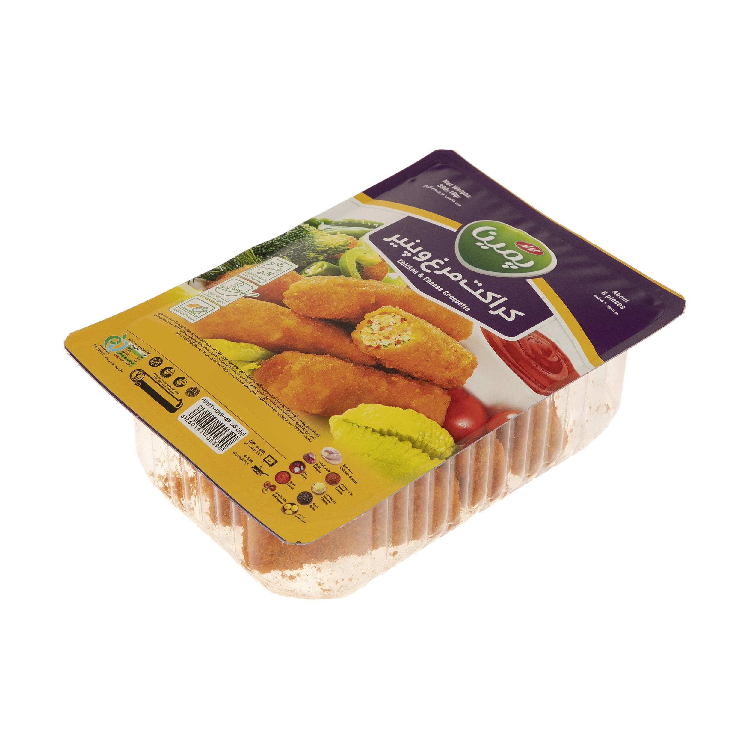 کراکت مرغ و پنیر پمینا مقدار 390 گرم
