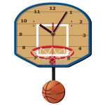 ساعت دیواری کودک ژیوار طرح بسکتبال thumb