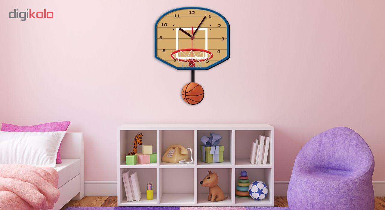 ساعت دیواری کودک ژیوار طرح بسکتبال main 1 1