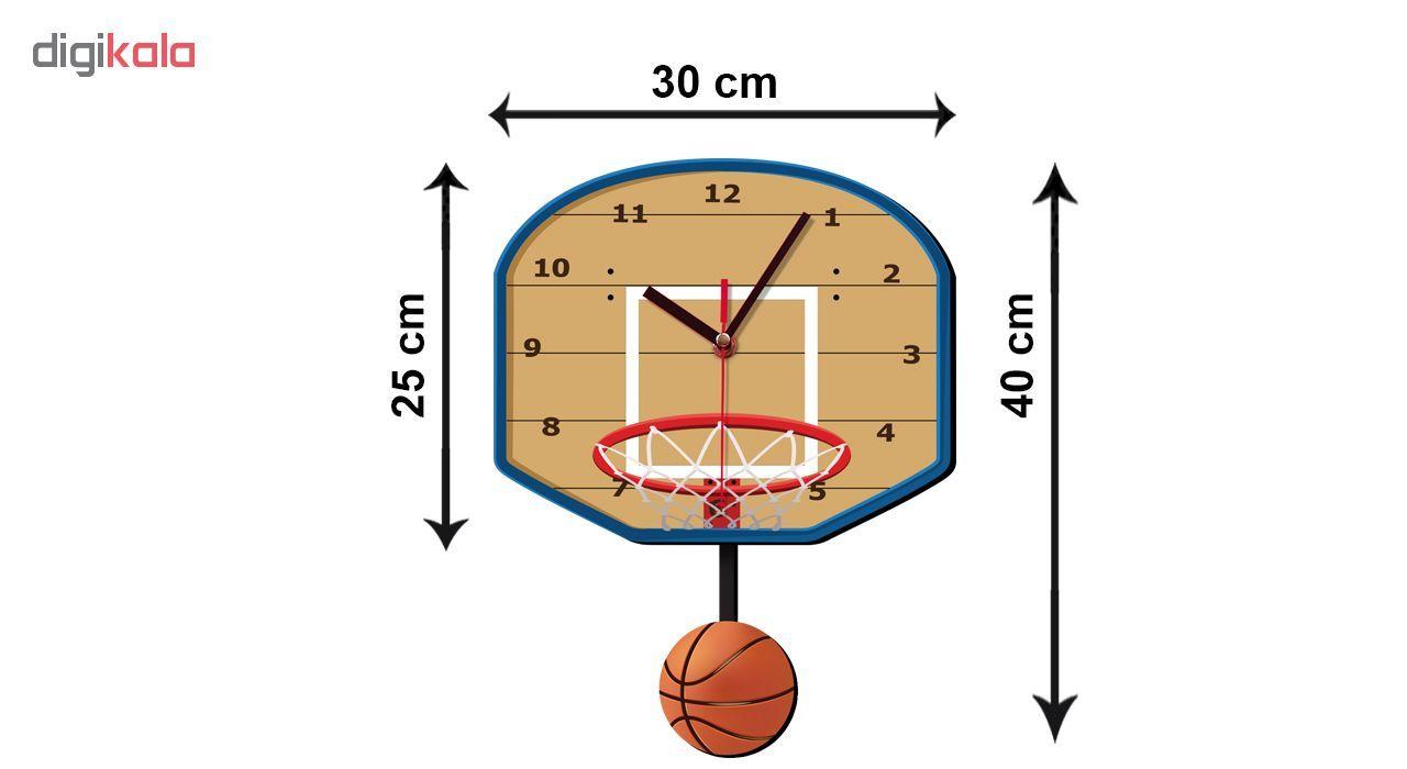 ساعت دیواری کودک ژیوار طرح بسکتبال main 1 2