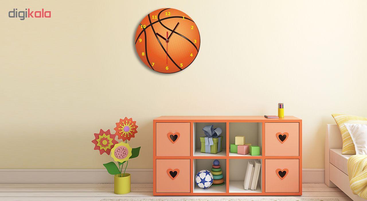 ساعت دیواری کودک ژیوار طرح  توپ بسکتبال main 1 1