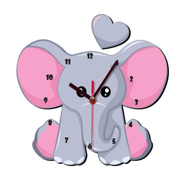 ساعت دیواری کودک ژیوار طرح فیل کوچولو