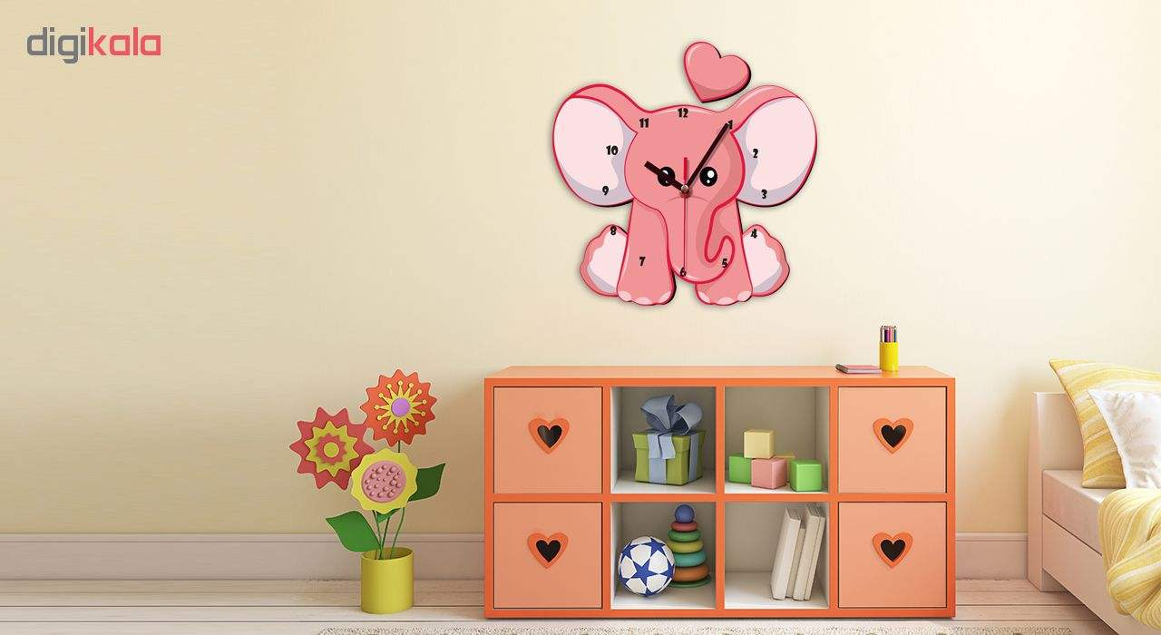ساعت دیواری کودک ژیوار طرح فیل کوچولوی زیبا main 1 1