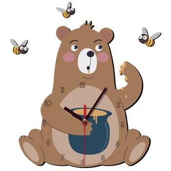 ساعت دیواری کودک ژیوار طرح خرس شکمو