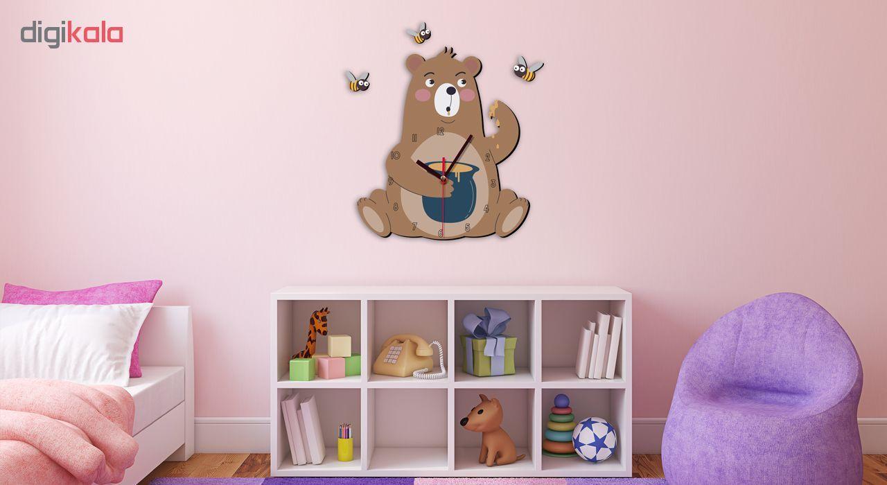 ساعت دیواری کودک ژیوار طرح خرس شکمو main 1 1