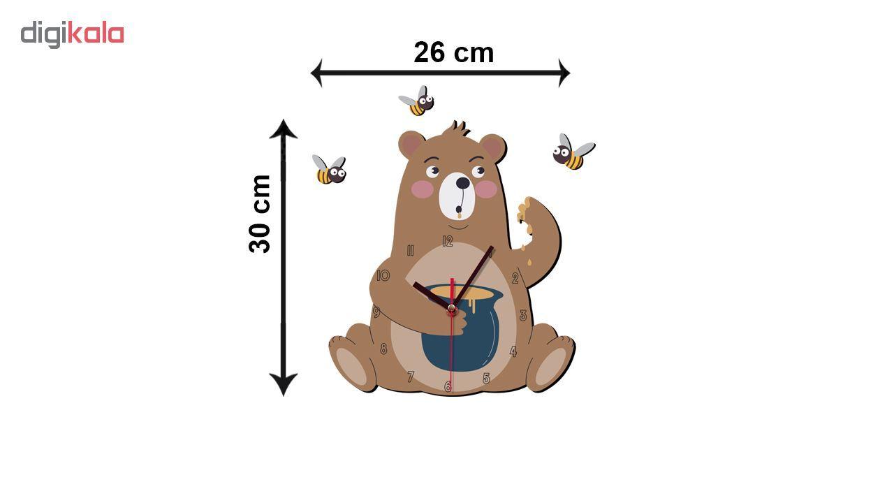 ساعت دیواری کودک ژیوار طرح خرس شکمو main 1 2
