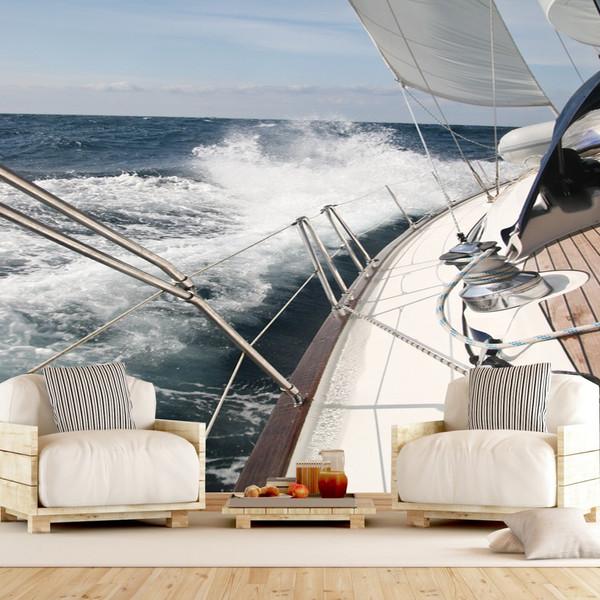 پوستر دیواری سه بعدی طرح قایق کد TV 1424