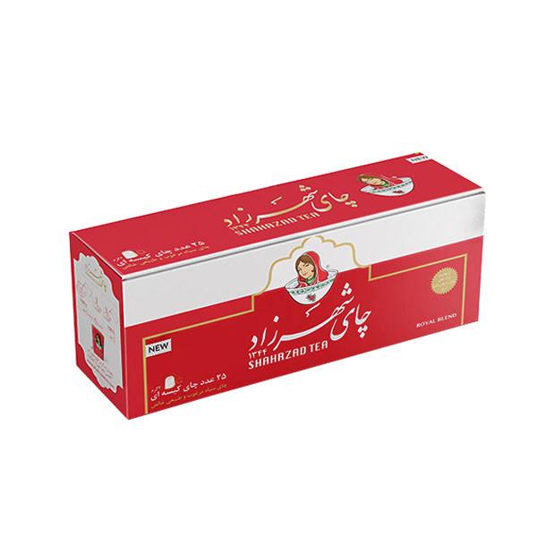 چای کیسه ای شهرزاد مدل Royal بسته 25 عددی