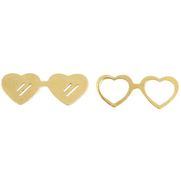 گوشواره نقره زنانه طرح قلب کد UN001
