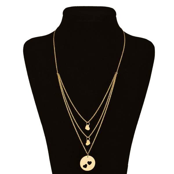 گردنبند طلا 18 عیار زنانه طرح قلب کد UN005