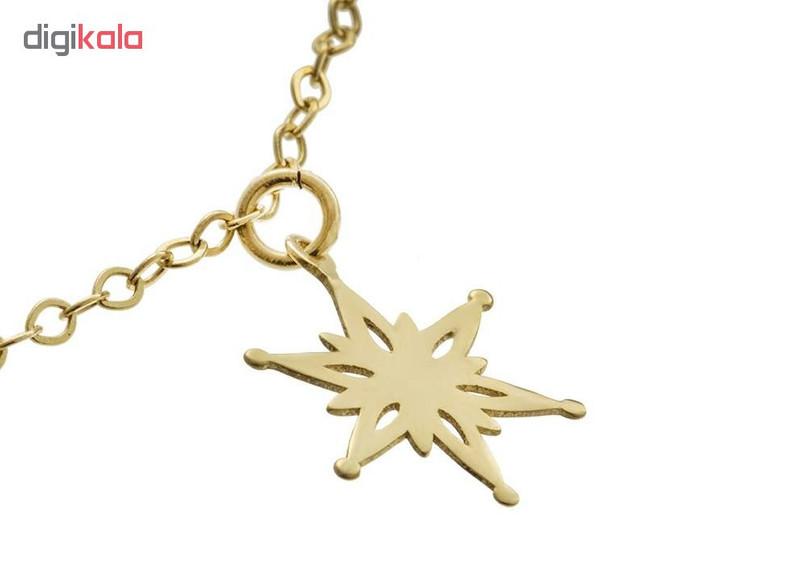 پابند طلا 18 عیار زنانه طرح ستاره کد UN002