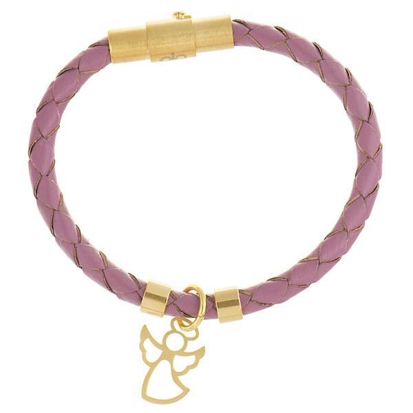 دستبند طلا 18 عیار دخترانه طرح فرشته کد UN001