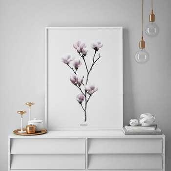 تابلو سالی وود طرح شاخه گل ماگنولیا مدل T130210