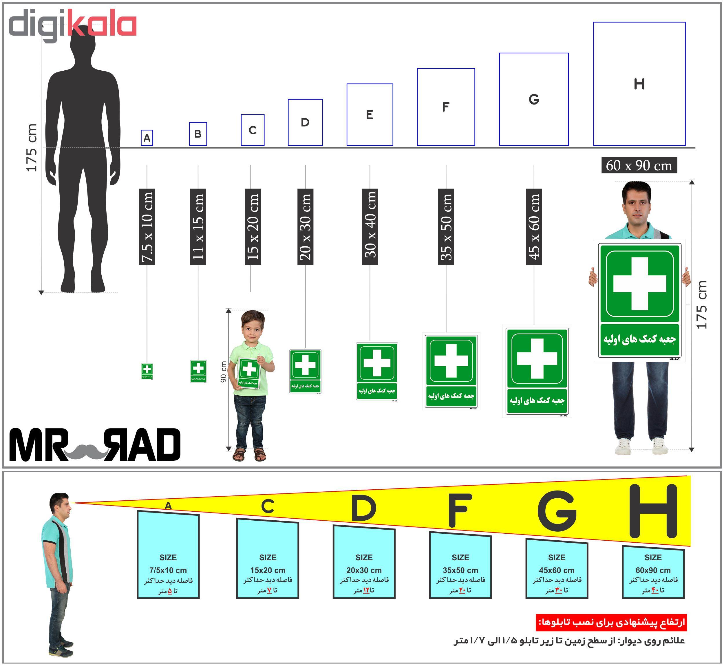 برچسب شرایط ایمن FG طرح جعبه کمک های اولیه کد LG178 بسته 2 عددی