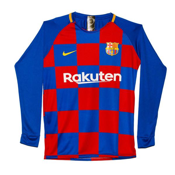 پیراهن ورزشی پسرانه طرح بارسلونا کد 05