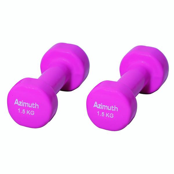 دمبل آذیموس مدل AZ091  وزن 1.5 کیلوگرم بسته 2 عددی
