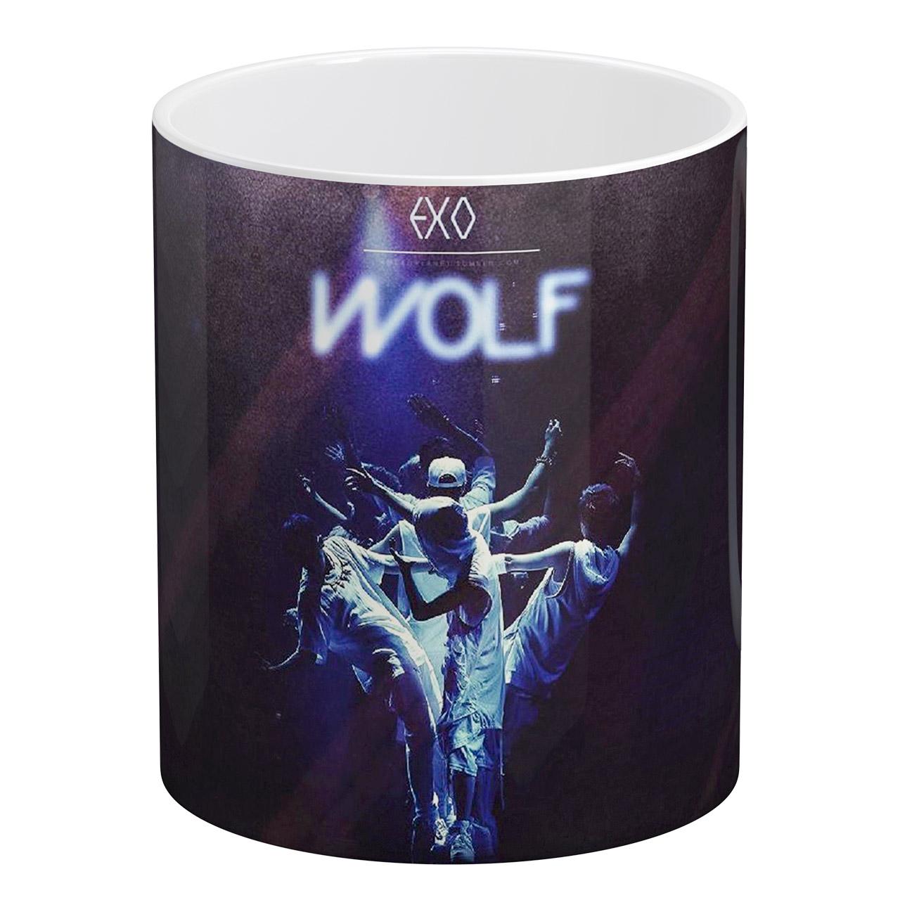عکس ماگ آبنبات رنگی طرح EXO - WOLF کد KSA0251